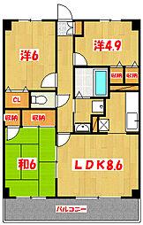 埼玉県草加市金明町の賃貸マンションの間取り