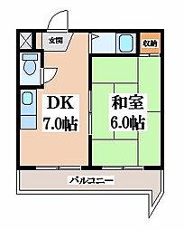 ファースト瓢箪山[3階]の間取り