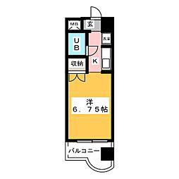 ド・ムール泰斗[2階]の間取り