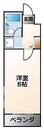 誠和ハイツ[3階]の間取り