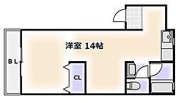 大阪府大阪市浪速区日本橋東2丁目の賃貸マンションの間取り