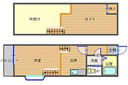 長崎県長崎市中小島1丁目の賃貸アパートの間取り