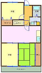 和歌山県海南市日方の賃貸アパートの間取り