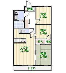 ケイハイツII[5階]の間取り
