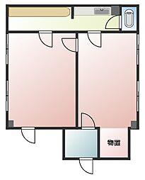 メゾン・ドゥ・セピア II[1階事務所号室]の間取り