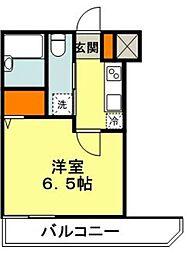 東急田園都市線 たまプラーザ駅 徒歩15分の賃貸マンション 4階1Kの間取り