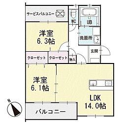 レ・セーナ岡崎 3階[302号室]の間取り