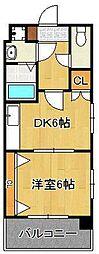 リファレンス小倉 5階1DKの間取り