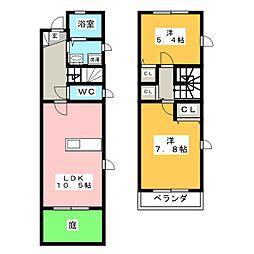 [テラスハウス] 愛知県刈谷市御幸町7丁目 の賃貸【愛知県 / 刈谷市】の間取り