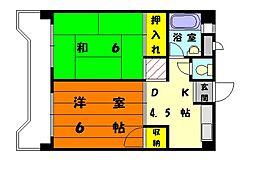 オレンジコーポ1号館[3階]の間取り