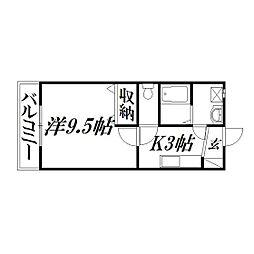 静岡県浜松市南区金折町の賃貸アパートの間取り