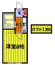 埼玉県草加市西町の賃貸アパートの間取り