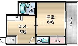 シャルマンしぎの[3階]の間取り