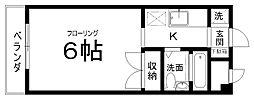 セラ中川[402号室]の間取り