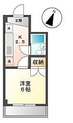 愛知県長久手市菖蒲池の賃貸マンションの間取り