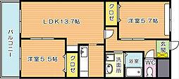 ファイングレイス梅の木[2階]の間取り
