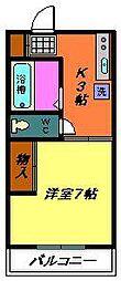 メゾンボナール(稲毛)[102号室]の間取り