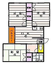 モンシャトー榎本[2階]の間取り