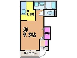 愛媛県伊予郡砥部町重光の賃貸アパートの間取り