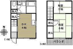 [テラスハウス] 埼玉県さいたま市北区日進町2丁目 の賃貸【/】の間取り