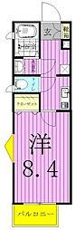 サンクレール松戸[1階]の間取り