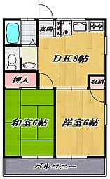 コーポ清樹I[201号室号室]の間取り