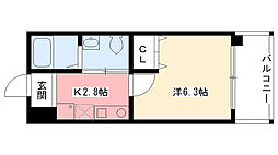 ダイドーメゾン阪神西宮駅前[607号室]の間取り