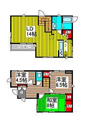 [一戸建] 埼玉県さいたま市浦和区本太1丁目 の賃貸【/】の間取り