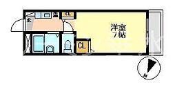 ハイツヤマネ[1階]の間取り
