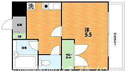 大阪府枚方市小倉町の賃貸マンションの間取り