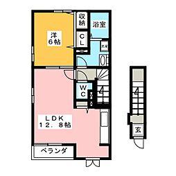 クレア・メゾン[2階]の間取り