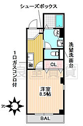 愛知県名古屋市昭和区川名本町4の賃貸マンションの間取り