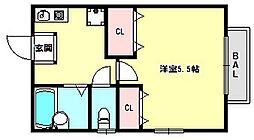兵庫県神戸市兵庫区神田町の賃貸アパートの間取り
