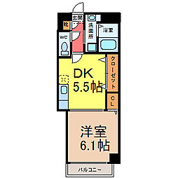プライムコート栄生 (プライムコートサコウ)[3階]の間取り