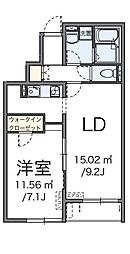 東京都あきる野市小川の賃貸アパートの間取り
