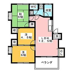 蛍橋コーポ[2階]の間取り