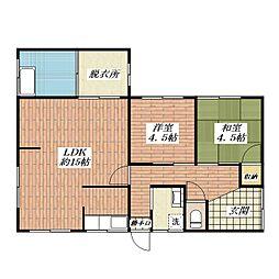 [一戸建] 大阪府茨木市水尾3丁目 の賃貸【/】の間取り