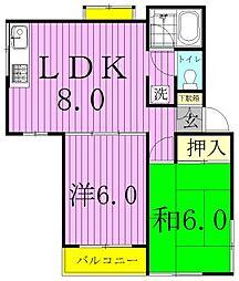 ソファレマリーナB棟[2階]の間取り