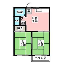 コーポ鈴木A[2階]の間取り
