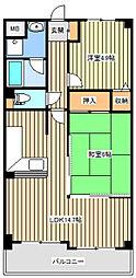 サンジェール増井[0103号室]の間取り