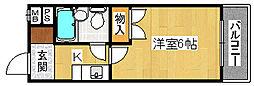 プレアール堺東II[3階]の間取り