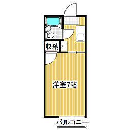 愛知県名古屋市中村区野上町の賃貸アパートの間取り