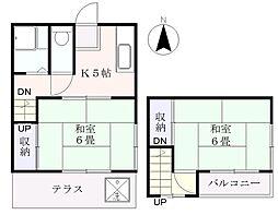 [テラスハウス] 東京都足立区扇3丁目 の賃貸【/】の間取り