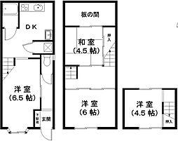 [一戸建] 滋賀県近江八幡市為心町上 の賃貸【/】の間取り