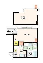 ハーモニーテラス花川II[1階]の間取り