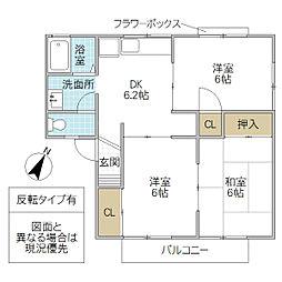 メゾン森 PartIII[102号室号室]の間取り
