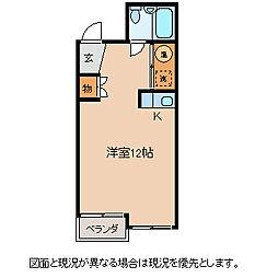 長野県岡谷市神明町4丁目の賃貸アパートの間取り