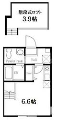 ハーミットクラブハウス山手IV・B号棟[2階]の間取り