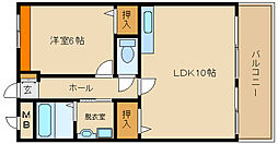 サンライズ:フジ[2階]の間取り