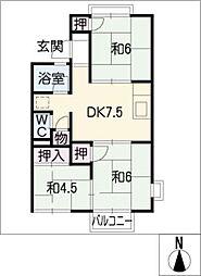 ハイツ翠 A棟[1階]の間取り